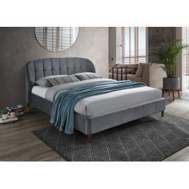 Ліжко Liguria Velvet 160x200 Сірий