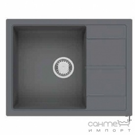 Гранітна кухонна мийка Fabiano Cubix 65x50 Antracit чорна