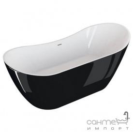 Отдельностоящая ванна Polimat Abi 180x80 00040 белая/черный глянец
