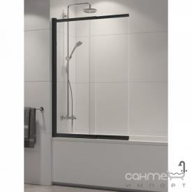 Шторка для ванни New Trendy Sensi Black P-0045 профіль чорний / прозоре скло