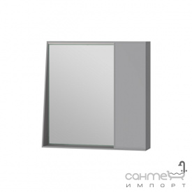 Зеркальный шкаф Ювента Manhattan 70 с LED подсветкой и выключателем серый