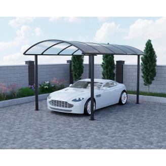 Автомобильный навес Oscar Fantom 2908х5160х2670 мм Монолитный поликарбонат Borrex 4 мм Двойная молотковая краска