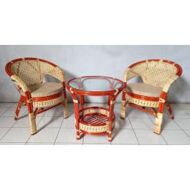 Плетенная мебель Cruzo Ява Терраса Сет для балкона на террасу кофейный комплект 2 кресла и журнальный столик