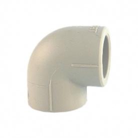 Куточок 90° PP-R 75 мм сірий
