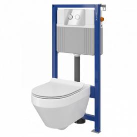 Сет b211 інсталяція aqua 52 qf унітаз crea cleanon сидіння crea slim дюропластове з плавним закрити