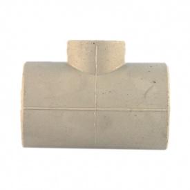 Трійник редукційний PP-R 63x25x63 мм сірий