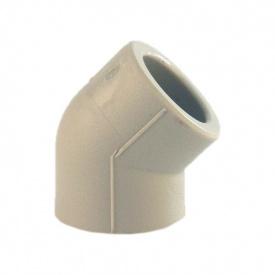 Куточок 45° PP-R 63 мм сірий