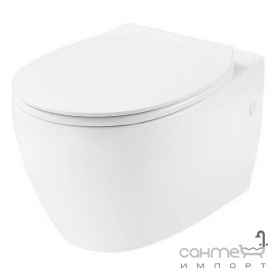 Подвесной безободковый унитаз с сидением slim softclose Devit Acqua 3020155 белый