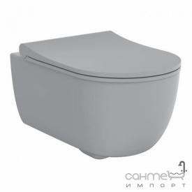 Унитаз подвесной безободковый с сидением soft-close Devit Art 2.0 3020140G серый матовый