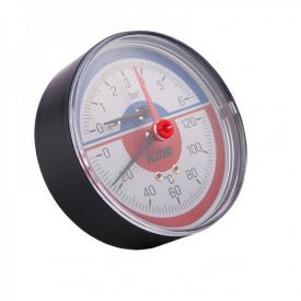 Термоманометр радиальный Icma 259 1/2 с запорным клапаном