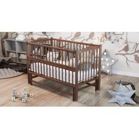 Кровать детскаяДубик-М Веселка на шарнирах с подшипником + откидная боковина орех