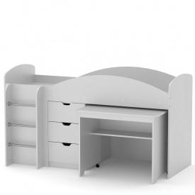 Кровать чердак Универсал Компанит Нимфея альба (белый)