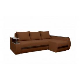 Угловой ортопедический диван Garnitur.plus Граф Коричневый 245 см