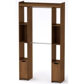 Шкаф для вещей 16 Компанит Орех экко (130х42х235 см)