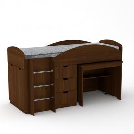 Кровать чердак Универсал Компанит Орех экко
