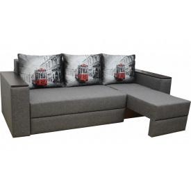 Угловой диван Garnitur.plus Смарт Трамвай Серый 255 см