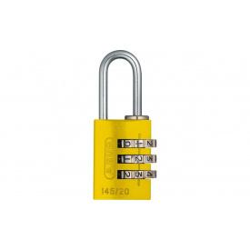 Замок навісний ABUS 145/20 Combination Lock Yellow (478475)