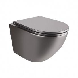 Унитаз Подвесной Qtap Robin Безободковый С Сидением Slim Soft-Close Qt1333046Enrmb