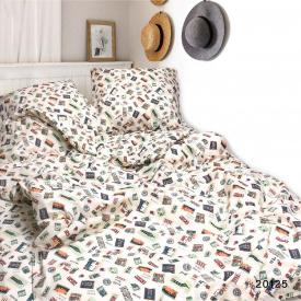 Постельное белье Viluta Ранфорс 20125 Двуспальный 210х175 Бежевый