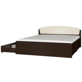 Кровать Эверест Астория с 4-мя ящиками 160 х 200 венге комби