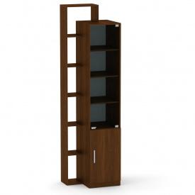 Шкаф витрина с полками Компанит Шкаф-10 орех экко