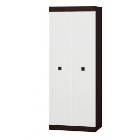 Шкаф распашной 2-х дверный Эверест Соната-800 венге + белый