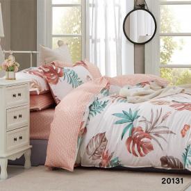 Постельное белье Viluta Ранфорс 20131 Семейный Белый с розовым