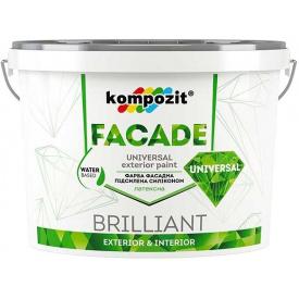 Краска фасадная силиконовая KOMPOZIT Facade Universal 14 кг