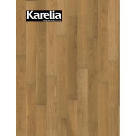 Однополосная паркетная доска Karelia ДУБ STORY 138 GRAIN BROWN