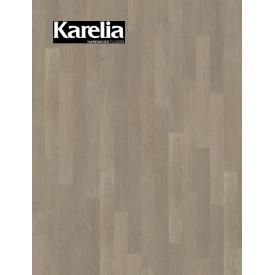 Однополосная паркетная доска Karelia ДУБ STORY 138 STONE GREY