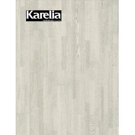 Трехполосная паркетная доска Karelia ДУБ ELECTRIC LIGHT 3S