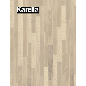 Однополосная паркетная доска Karelia ЯСЕНЬ STORY 138 WHITE ORCHID