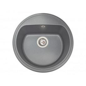 Кухонная мойка из гранита круглая Miraggio Malibu Gray