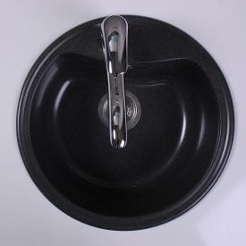 Кухонная мойка из гранита круглая Fancy Marble Texas Черная