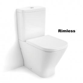 Унитаз напольный Roca Gap Rimless в комплекте с бачком и сиденьем SoftClose Белый A34D738000