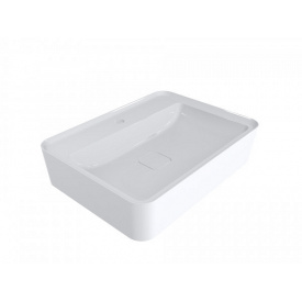 Умывальник накладной из литого мрамора Miraggio Marakesh 600 Белый глянцевый