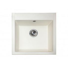 Кухонная мойка из гранита квадратная Miraggio Bodrum 510 White