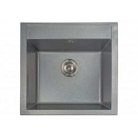 Кухонная мойка из гранита квадратная Miraggio Bodrum 510 Gray