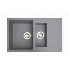 Кухонная мойка из гранита прямоугольная Miraggio LaPas Gray