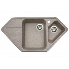 Кухонная мойка из гранита трапециевидная Miraggio Tirion Terra