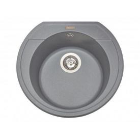 Кухонная мойка из гранита круглая Miraggio Tuluza Gray