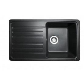 Кухонная мойка из гранита прямоугольная Miraggio Versal Black