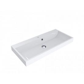 Умывальник врезной из литого мрамора Miraggio Varna 900 Белый глянцевый