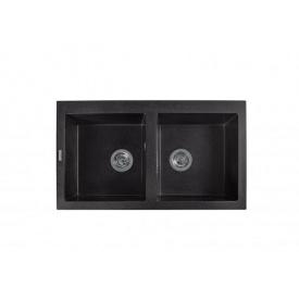 Кухонная мойка из гранита прямоугольная Miraggio Westeros Black