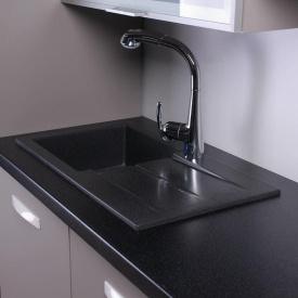 Кухонная мойка из гранита прямоугольная Fancy Marble Tennessee Черная