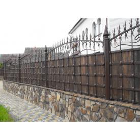 Забор кованый ЧП Брама Зевс дерево
