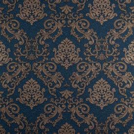 Шпалери вініл на флізеліні LS Есмеральда Декор сіро-синій ДХV-1192/6 1.06х10.05 м
