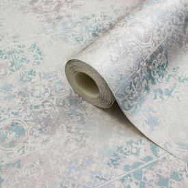 Миючі сірі шпалери в кухню вологостійкі паперові плитка LS Ненсі МНК 5-1293 0,53х10.05 м