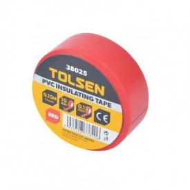 Изоляционная лента Tolsen 19ммх9,2м красная 0,13мм (38025)
