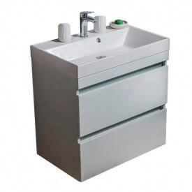 Тумба для ванной комнаты Fancy Marble Sherman 700 с умывальником Signe 700 Белая